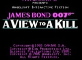 James Bond 007 - A View to Kill - DOS